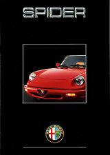 Prospekt Alfa Romeo Spider 1989 Serie 4 Autoprospekt Broschüre 9110-982 brochure