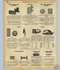 1922 PAPER AD Yale Key Cutting Duplicating Machine Locomotive House Gong Bell