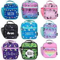 FRINGOO Personalised Kids Lunch Bag Thermal Insulated 2 Compartment Cooler Bag