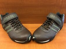 factory authentic 2a224 e4c22 Team Adidas Goodyear Torsion Racing Driving Brown Leather Olive 114240 Size  8