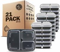 Freshware Meal Prep Containers  Compartment With Lids, Food Storage Bento Box