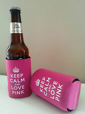 Mothers day gift Fun Keep Calm & Love Pink Bottle/Can Cooler B2G1 Free!