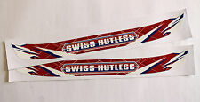 SWISS HUTLESS STYLE HELMET VISOR STICKER/STRIP - KARTING