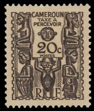 "CAMEROUN J17 (Mi P17) - Carved Figures ""Postage Due"" (pf56955)"