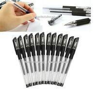40pcs gel noir stylos poignée en caoutchouc étudiant bureau encre papeterie stylo à bille 0.5mm