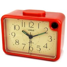 Vintage 1980s Red Alarm Clock with Quartz Movement Lorus LXE639R