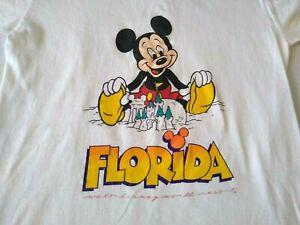 Vintage DISNEY Character Fashions FLORIDA Mickey Sandcastle T-Shirt Kids 10-12