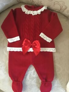 Christmas Spanish baby knit set 0-3-6-9-12 months romany Pex