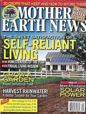 Mother Earth News magazine Self reliant living Garden growing Solar power Water