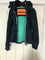 Superdry Navy Blue Jacket Size XXS Women's Long Sleeve Great Condition (D875)