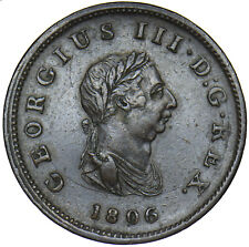 More details for 1806 halfpenny - george iii british copper coin - nice
