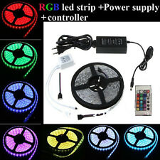 5M Flexible waterproof RGB LED Strip Light 300 SMD 5050 + Controller +110V power