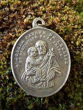 Ancienne médaille  religieuse St Joseph protecteur de la France et de l'église