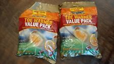 2 Pack Hot Hands Adhesive Toe Warmer 6 pair per pack Value Pack