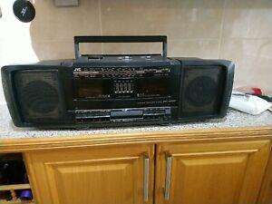 Vintage Retro JVC PC-W100 Portable Component Cassette Radio Boombox Black