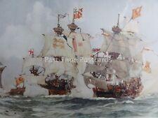 C1901 stampa cattura del Leone Scozzese man-o-war 1511 da Charles Dixon