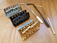 Strat Tremolo Gutiar Bridge Tail,10.5mm string space Chrome,Black,Gold