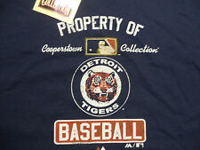 DETROIT TIGERS COOPERSTOWN COLLECTION VINTAGE LOGO t shirt sz XL NEW NWT