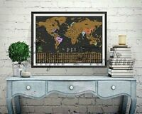 Deluxe travel edition scratch off world map poster personalized deluxe travel edition scratch off world map poster personalized journal log gift gumiabroncs Choice Image