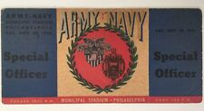 1946 Army vs Navy Football Game Full Ticket Special Officer