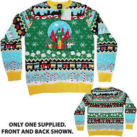 Official Numskull Buddy The Elf Movie Knitted Xmas Jumper Ugly Sweater Novelty