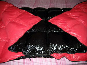 glossy shiny nylon wet look duvet down comforter quilt glanznylon winter blanket