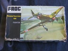 Frog Morane Saulnier M.S.406 French Fighter WW2 1/72 Instructon Box,Stand,Decals