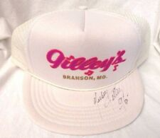Autographed Signed Mickey Gilley Trucker Hat/Flat Rim Cap Gilley's Branson, MO