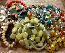 Lot of Jewelry Making Supplies, Findings, Snap, Bead, European Charm, Chains