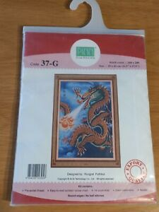 Stunning Pinn Mythical Oriental Fire-breathing Dragon Eastern Cross Stitch Kit