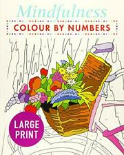 Mindfulness Colour-by-numbers Large Print by Arcturus Publishing Paperback B