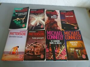 LOT DE 8 LIVRES JAMES PATTERSON // MICHAEL CONNELLY - THRILLERS