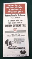 Pennsylvania Railroad 1958 Railway Time Table