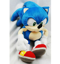 "Sega SONIC THE HEDGEHOG Blue 20"" PLUSH DOLL BACKPACK Toy Tote Pillow NEW!!"