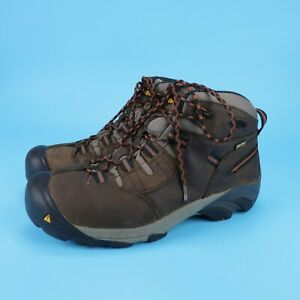 KEEN Utility Men's Detroit Mid Soft Toe EH Work/Hiking Ankle Boots Size 13 EE