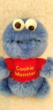 Knickerbocker Vintage Sesame Street Cookie Monster Rattle Plush 1983 Muppets