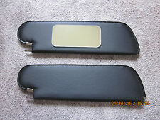 1971-72  chevelle SS HT single pin sun visors with vanity  mirror black perf