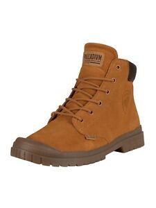 Palladium Men's Slim Cuff Suede Boots, Brown