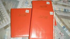 Vtg 1970's All Occassion Address Book/Phone/Holiday/Card List-Orange-NOS