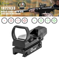 CVLIFE 1X22X33 Red Green Dot Gun Sight Scope 4 Reticle Reflex Sight w/ 20mm Rail