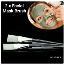 2 × Facial Mud Mask Mixing Crystal Plastic Brush Skin Care Beauty Makeup Tool Uk