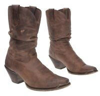 DURANGO Cowboy Boots 9 M Womens Distressed Leather Vintage WESTERN Slouch Boots