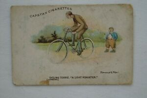 Cycling Terms Scarce 1905 Vintage Antique Wills Vice Regal Card A Light Roadster