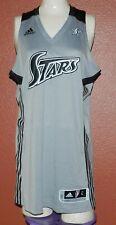 San Antonio Silver Stars WNBA Adidas Basketball Gray Blank Jersey Large