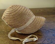Authentic antique estate 1800's straw bonnet