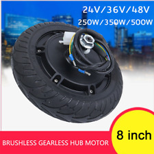 """8 """"Electric Scooter Wheel Brushless Hub Motor Electric Bicycle Conversion Kit US"""