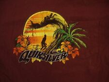 Quicksilver Pocket Print Surfing Palm Tree Skateboarding Brand T Shirt S / M