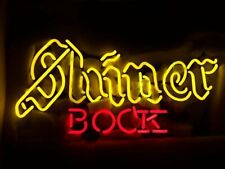 "New Shiner Bock Neon Light Sign 17""x14"" Beer Cave Gift Lamp Artwork Texas Glass"