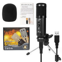 Kmise USB Condenser Microphone for Gaming Recording Broadcast W/Adjustable Stand