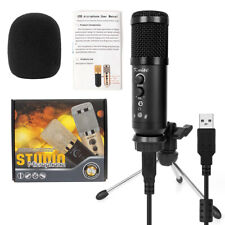 Kmise USB Condenser Microphone Large Diaphragm for Window & Mac Studio Mic+Stand